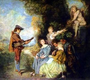 La leçon d'amour, d'Antoine Watteau