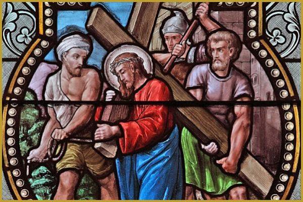 vitrail chemin croix